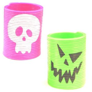 Spring Slinky Coils HALLOWEEN (Black Green Orange or Purple) Party Bag Toys